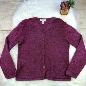 Pendleton Women's Size M Wine Color Cardigan